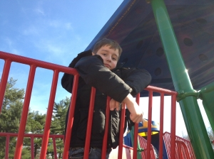 alex on playground